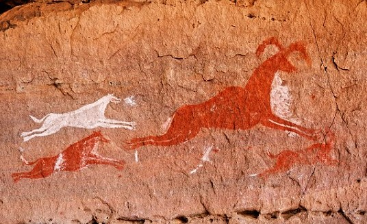 Wolf Lybia Cave Painting