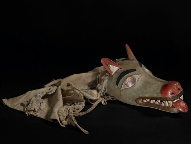 Wolf mask Northwest Coast America