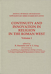 Continuity and Innovation in Religion in the Roman West