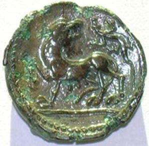 Celtic wolf coin, Carnutes